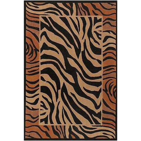 Artist's Loom Handmade Flatweave Transitional Animal Natural Eco-friendly Jute Rug - 7'9 x 10'6