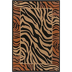Artist's Loom Handmade Flatweave Transitional Animal Natural Eco-friendly Jute Rug (7'9x10'6) - Thumbnail 0