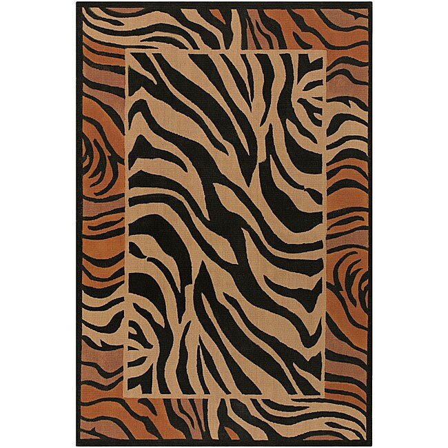 Artist's Loom Handmade Flatweave Transitional Animal Natural Eco-friendly Jute Rug (7'9 Square) - Thumbnail 0