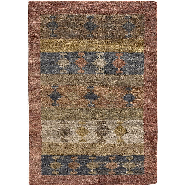 Artist's Loom Hand-tufted Contemporary Solid Natural Eco-friendly Jute Rug (5'x7'6)