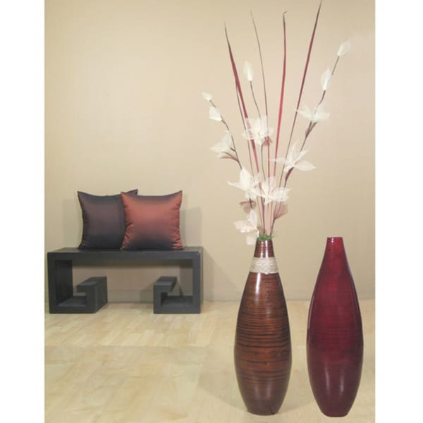 Shop Floral Arrangement 24 Inch Teardrop Floor Vase Free Shipping