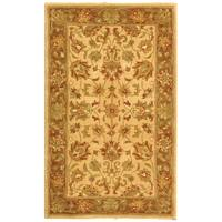 Safavieh Handmade Heritage Traditional Kerman Ivory/ Brown Wool Rug (3' x 5')