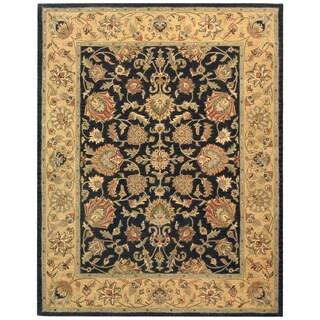 Safavieh Handmade Heritage Traditional Kerman Charcoal/ Gold Wool Rug (8'3 x 11')