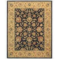 Safavieh Handmade Heritage Traditional Kerman Charcoal/ Gold Wool Rug - 8'3 x 11'