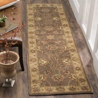 Safavieh Handmade Heritage Traditional Kerman Brown/ Ivory Wool Runner (2'3 x 14')