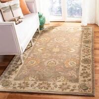 Safavieh Handmade Heritage Traditional Kerman Brown/ Ivory Wool Floral Rug - 5' x 8'