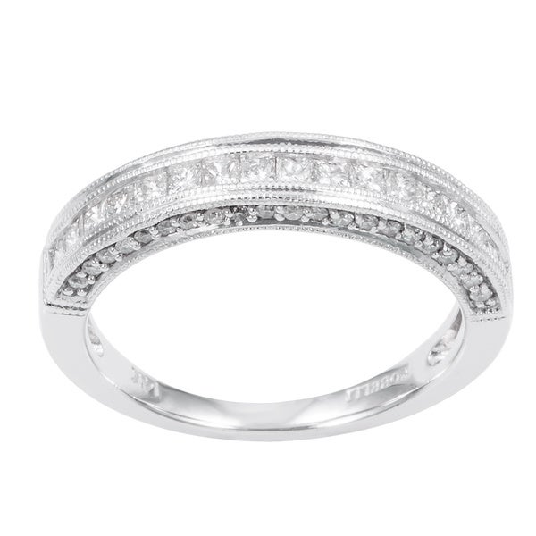 Annello by Kobelli 14k Gold 1/2ct TDW Princess Diamond Band (H-I, I1-I2)