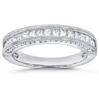 Annello by Kobelli 14k Gold 1/2ct TDW Princess Diamond Band
