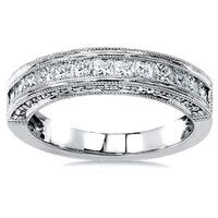 Annello by Kobelli 14k Gold 3/4ct TDW Princess Diamond Band