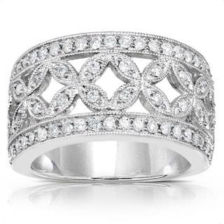 Annello by Kobelli 14k Gold 1/2ct TDW Diamond Floral Anniversary Ring (G-H, I1-I2)