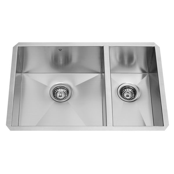 vigo 29 inch undermount stainless steel 16 gauge double bowl kitchen sink. Interior Design Ideas. Home Design Ideas