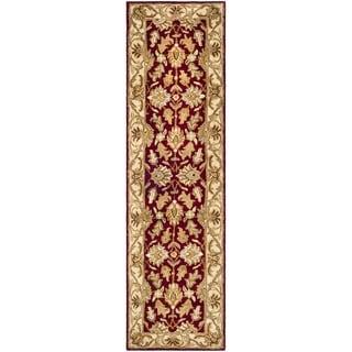 Safavieh Handmade Heritage Traditional Kashan Red/ Ivory Wool Runner (2'3 x 8')
