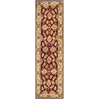 Safavieh Handmade Heritage Traditional Kashan Red/ Ivory Wool Runner (2'3 x 10')
