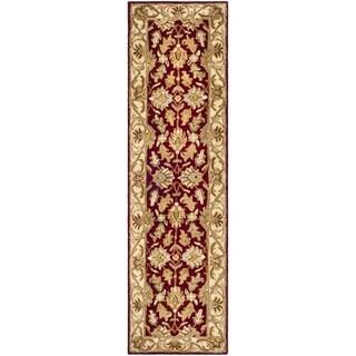 Safavieh Handmade Heritage Traditional Kashan Red/ Ivory Wool Runner (2'3 x 12')