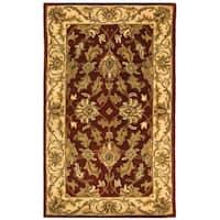 Safavieh Handmade Heritage Traditional Kashan Red/ Ivory Wool Rug - 3' x 5'
