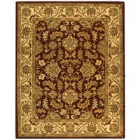 Safavieh Handmade Heritage Traditional Kashan Red/ Ivory Wool Rug (6' x 9')