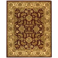 Safavieh Handmade Heritage Traditional Kashan Red/ Ivory Wool Rug - 8'3 x 11'