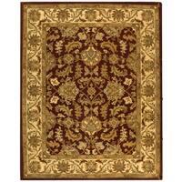 Safavieh Handmade Heritage Traditional Kashan Red/ Ivory Wool Rug (8'3 x 11')