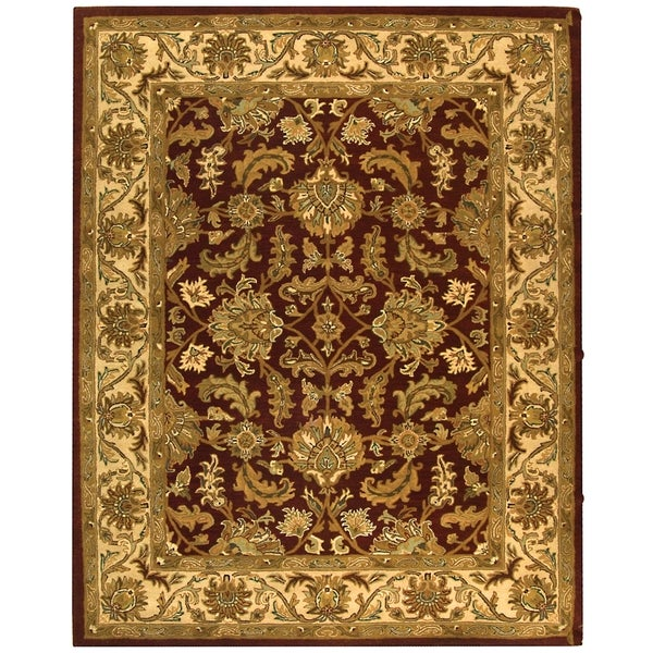 Safavieh Handmade Heritage Traditional Kashan Red/ Ivory Wool Rug (8'3 x 11')
