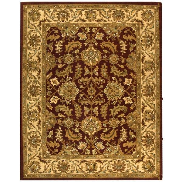 Safavieh Handmade Heritage Traditional Kashan Red/ Ivory Wool Rug - 9'6 x 13'6