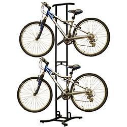 Freestanding Dual Bike Storage Rack System