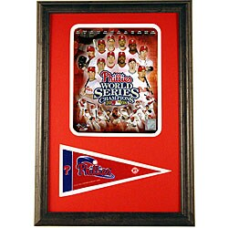 Phillies 2008 World Series 12x18 Framed Print with Pennant