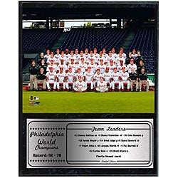 Philadelphia Phillies 2008 World Series Team 12x15 Black Plaque