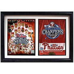 Phillies 2008 World Series 12x18 Custom Framed Double Print - Thumbnail 0