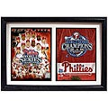Phillies 2008 World Series 12x18 Custom Framed Double Print