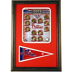 Phillies 2008 Team 12x18 Framed Print with Mini Pennant