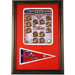 Phillies 2008 Team 12x18 Framed Print with Mini Pennant - Thumbnail 0