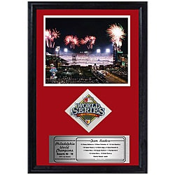 "Phillies 2008 World Series Sports Print and Patch (12"" x 18"")"