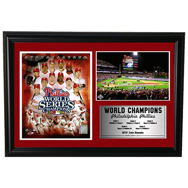 Phillies World Series 12x18 Custom Frame Print