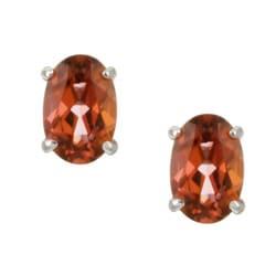 Kabella 14k White Gold Salmon Sorbet Topaz Stud Earrings