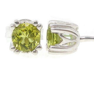 Michael Valitutti 18k White Gold Canary Tourmaline Earrings - Green