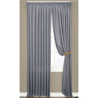 Faux Silk Luster Crushed Curtain Panel Pair