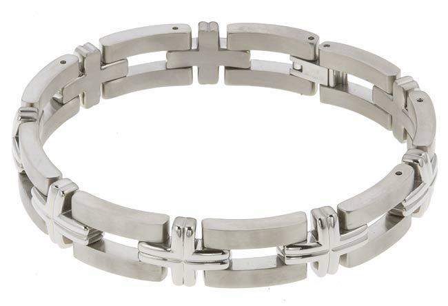 Men'sTitanium Dual-finish Bracelet