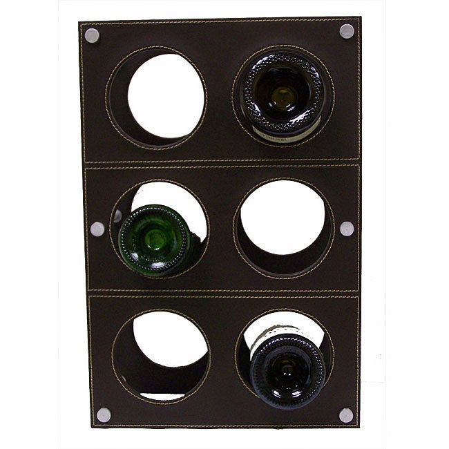Handmade Synthetic Leather Wine Rack (India)