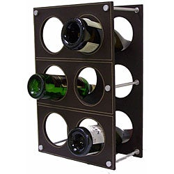 Handmade Synthetic Leather Wine Rack (India) - Thumbnail 1