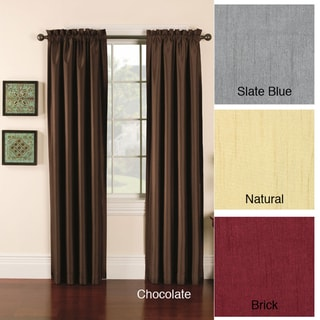 Faux Silk Emerson Curtain Panel Pair
