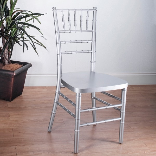 Wonderful Stackable Silver Ballroom Chairs (Set Of 2)