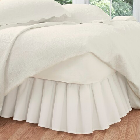 Ruffled Poplin Polyester/Cotton 14-inch Drop Bedskirt