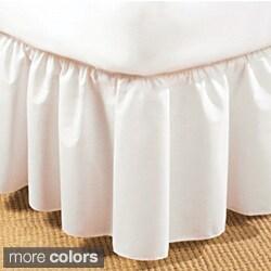 Ruffled Poplin 14-inch Polyester/Cotton Bedskirt