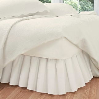 Ruffled Poplin 14-inch Polyester/Cotton Bedskirt