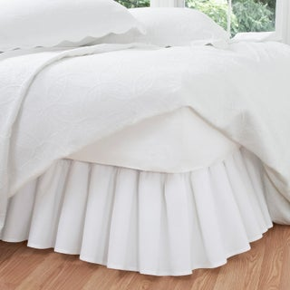 Ruffled Poplin Polyester/Cotton 14-inch Drop Bedskirt (More options available)