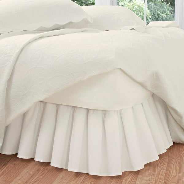 Ruffled Poplin Polyester Cotton 14 Inch Drop Bedskirt