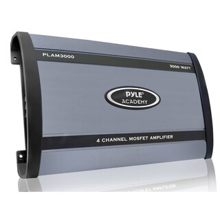 Pyle PLAM3000 Car Amplifier 75 W at 4 Ohm 4 Channel 3000 WATTS 4 CHANNEL Bridgeable 16 Ohm 90 dB