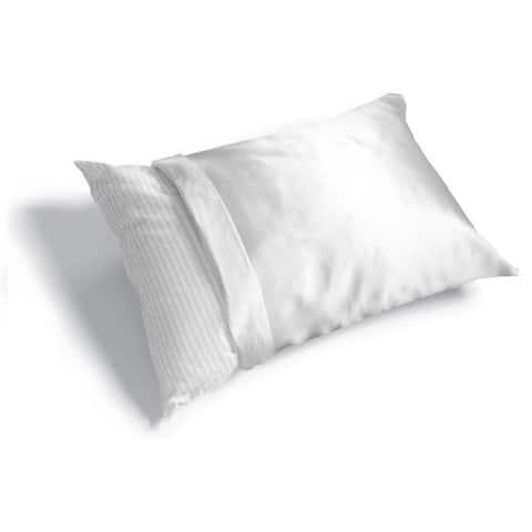 Haircare Standard Woven Polyester Satin Pillow Cover (Case of 6)
