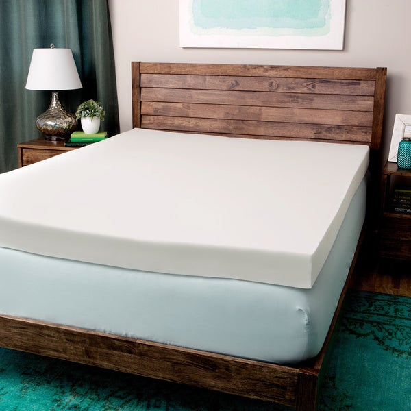 Comfort dreams ultra soft 4 inch memory foam mattress topper free shipping today overstock 4 memory foam mattress topper