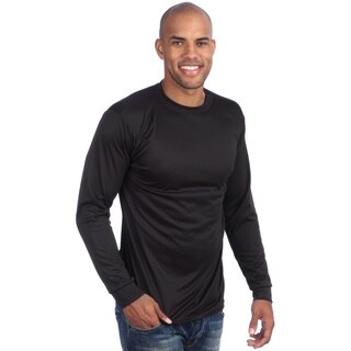 Kenyon Men's Machine-washable Silkyester Long-sleeved Crew-neck Top (5 options available)
